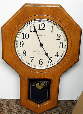 Hermle School House Wall Clock -Oak  Finish  With Dual Chimes