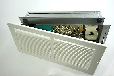 Steel Wall Safe Hidden as Air Vent Secures Jewelry, Valuables or Cash
