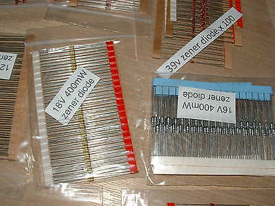 400mw zener diode bulk pack 100 of each of the 20 most popular values total 2000