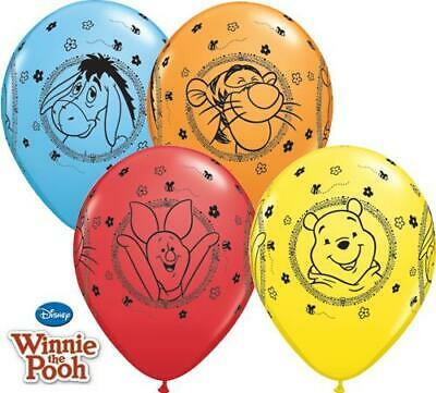"""Pack of 5 Winnie the Pooh /& Friends 11/"""" Latex Balloons"""