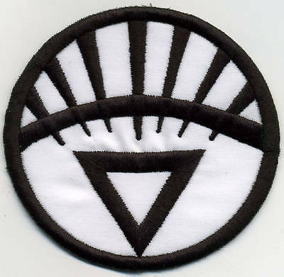 """5"""" White Lantern Corps Classic Style Embroidered Patch"""