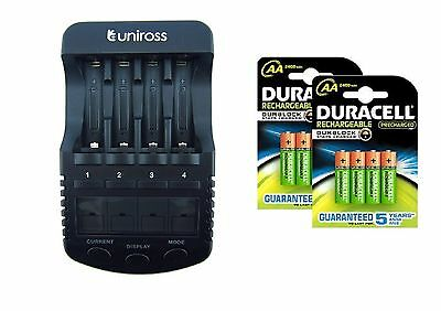 UNiROSS ULTIMATE INTELLIGENT SMART Charger AA AAA+ 8 x AA  DURACELL DURALOCK
