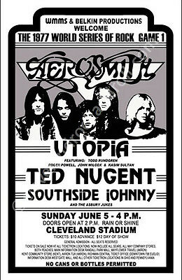 Aerosmith/Utopia/Ted Nugent Cleveland Concert Poster