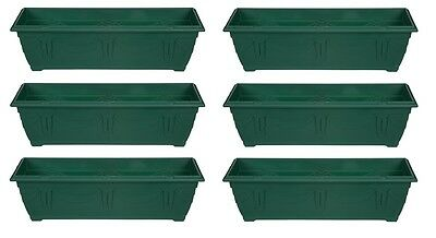 Large 60cm Slim Venetian Window Box Plant Pot Planter Trough Plastic Green Colou