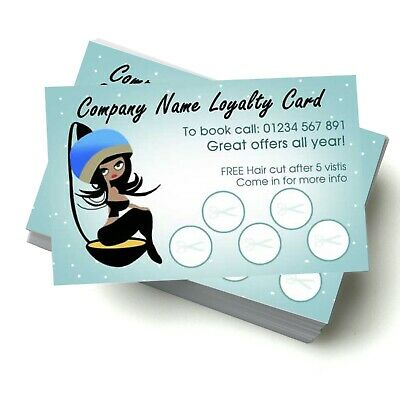 Personalised Loyalty Cards, 350gsm single/double sided, wide range of templates