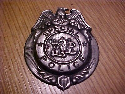 VINTAGE Badge Special POLICE,TIN,JAPAN,OLD TIN TOY BADGE