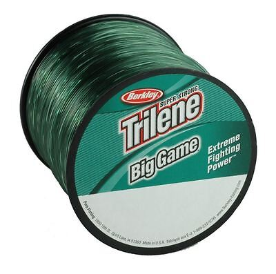 Berkley Big Game 1/4Lb Bulk Spool Mono Fishing Line Lo Vis Green All Sizes