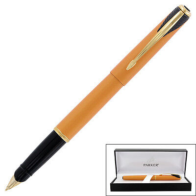 """Parker Inflection Radiant Yellow Fountain Pen, Medium Nib - 4591200"""