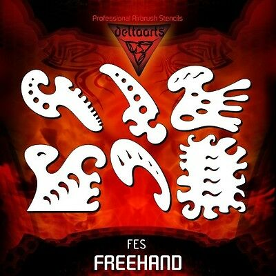 Airbrush stencil template DELTAARTS FREEHAND ESSENTIAL SET FES  MINI  MID  XXL