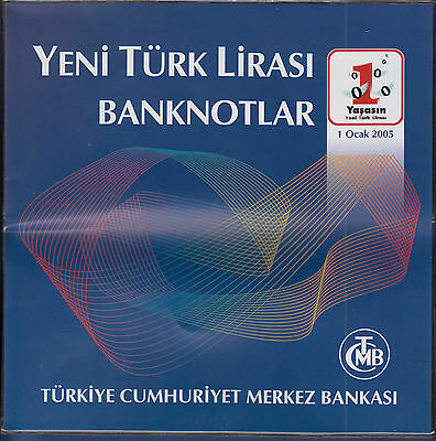 TÜRKEI / TURKEY 1 bis 100 Lirasi 2005 in Folder UNC  P.216-221