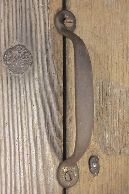 Screen door handle drawer pull vintage screws rustic tarnished brass old 4 3/4""