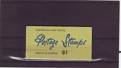 AUSTRALIA - SGSB41a MNH 1967 $1 BOOKLET - GREEN COVER