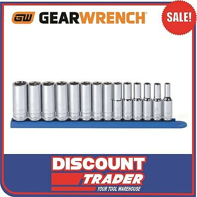 "GearWrench 14 Piece 3/8"" Drive 6 Point Deep Metric Socket Set 80554"