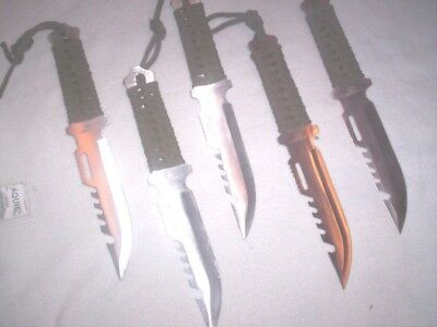 25 Survival Hunting knives Wholesale Lot Camping Fishing bug out bag Lightweight