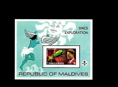 Maldives - 1975 - Space - Kennedy - Jfk - Apollo - Mint - Imperf - S/sheet