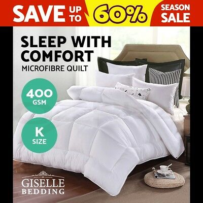 Microfiber Quilt Winter Weight Microfibre Doona Duvet Blanket Doona Cotton King
