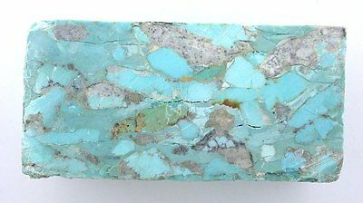 254 Gram Stabilized Block Natural Sonora Mexico Turquoise Cabochon Carving Rough