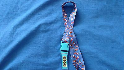 Authentic Disney Parks Pin Lanyard/keychain 2015 Mickey Chip/dale Minnie Donald