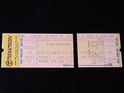 King Crimson-April 28,1973-ORIGINAL New York Larks' Tongues Tour COMPLETE Ticket