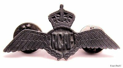 RCAF Canada Royal Canadian Air Force Pewter Pilot Wings 1945-1952 KC