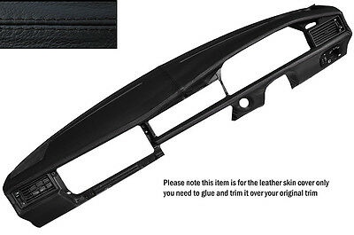 Black Leather Dash Dashboard Leather Cover Fits Mercedes W201 190 190E