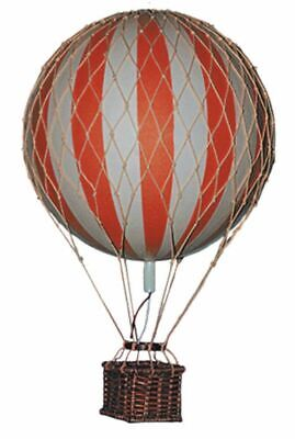 G381: Kleiner Historischer Helium Ballon Rot, Floating the Skies, 8 cm.