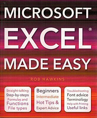 Microsoft Excel Made Easy by Hawkins, Rob Paperback Book