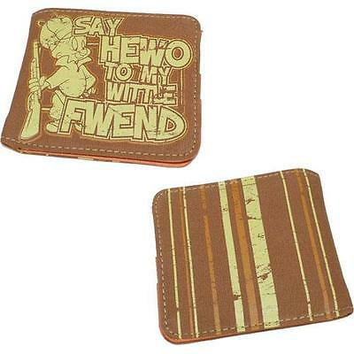 Elmer Fudd - Say Hewo To My Wittle Fwend Bi Fold Wallet With Coin Pocket - New