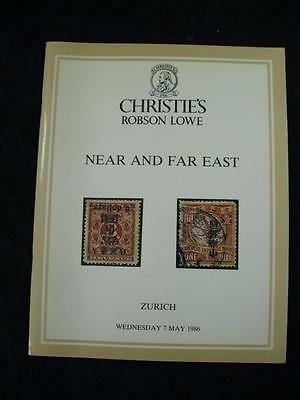 CHRISTIES ROBSON LOWE AUCTION CATALOGUE 1986 NEAR AND FAR EAST with AFGHANISTAN