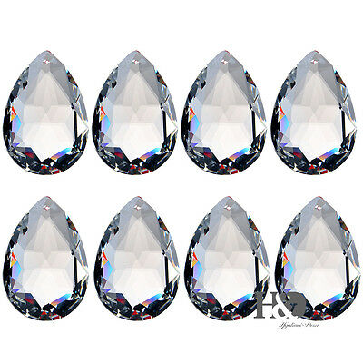 10PCS Lot Clear Chandelier Glass Crystal Lamp Prisms Hanging Drops Pendants 50mm
