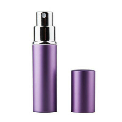TRIXES 5ml Easy Fill Travel Perfume Aftershave Atomiser Spray Bottle Purple