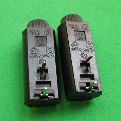 10pcs Ceramics Glass PTF50 PCB Fuse Holder Socket 5mm x 20mm
