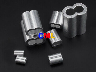 Aluminum cable / wire rope Double ferrules 1.2mm to 8mm