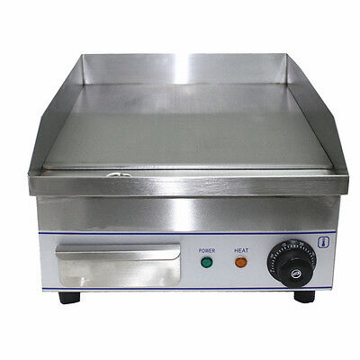 NEW ACE Electric Griddle, Hotplate, Burgers Planche Bacon Egg etc BED 35 x 38cm