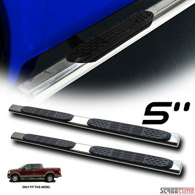 """5"""" Stainless Chrome Side Step Nerf Bars Running Boards 04-08 F150 Super Crew Cab"""
