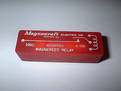 Magnecraft W102Pcx-1 Spst 6V Dc  Reed Relay  100 Ohm  Box#14