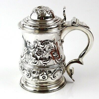 George II Sterling Silver Tankard By Thomas Whipham London England 1743