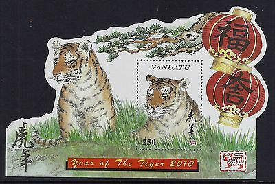 2010 Vanuatu Year Of The Tiger Minisheet Fine Mint Mnh/muh