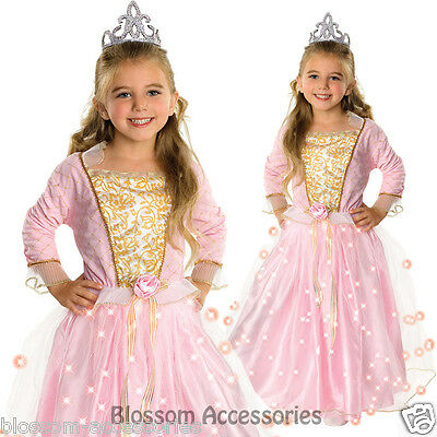 CK420 Girls Rose Princess Light Up Fairy Tale  Book Week Fancy Dress Up Costume