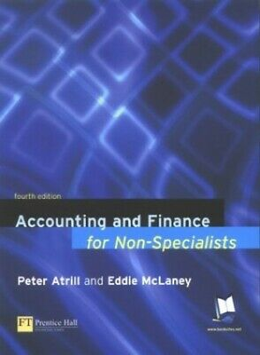 Accounting and Finance for Non-Specialists by McLaney, Eddie Paperback Book The