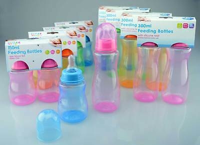 Baby Bottles Pack of 2 Baby Feeding Bottles First Steps 150ML or 300ML BPA Free