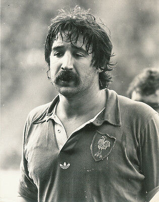 """MICHEL PALMIE FRANCE RUGBY PHOTOGRAPH 8"""" x 6"""" (21cm x 16cm) dated 1978"""