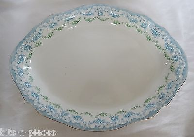 Antique BISHOP & STONIER semi porcelain BLUE TRANSFERWARE Large Serving Platter