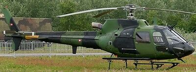 AS-550 Fennec Denmark Eurocopter AS550 Helicopter Wood Model Replica Small New