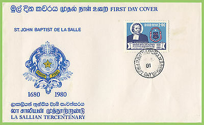Sri Lanka 1981 La Sallian Tercentenary First Day Cover