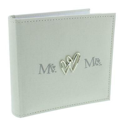 "Wedding Picture Photo Album Gift Beautiful Linen Cover 80 x 4""x6""  WG517"