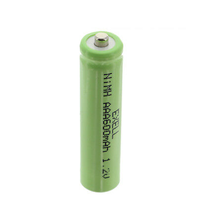 Exell 1.2V NIMH AAA 600mAh Rechargeable Button Top Battery FAST USA SHIP