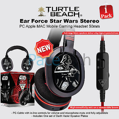 Turtle Beach Ear Force Star Wars Stereo PC Apple MAC Mobile Gaming Headset 50mm