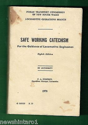 #ss. 1978  Nsw Railway Book - Safe Working Catechism For Enginemen