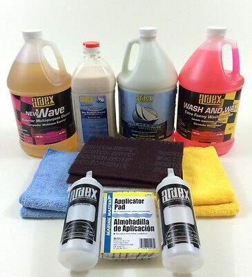 Gelcoat Clean, Restore & Shine  - Ardex Marine Detailer Pro Pack